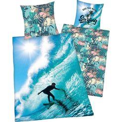 young collection tweezijdig te gebruiken overtrekset surfer met leuk surfer-motief multicolor