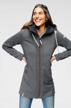luhta tricot-fleecejack »haukilatih« grijs