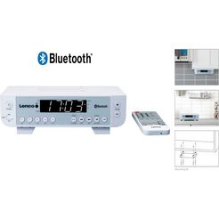 lenco keuken-radio »kcr-100« (fm-tuner, 2 watt) wit