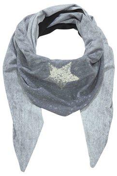 j.jayz driehoekig sjaaltje met pailletten-ster grijs