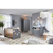 complete babykamerset toronto bed, commode en kast 3 deurs (set, 3 stuks) grijs