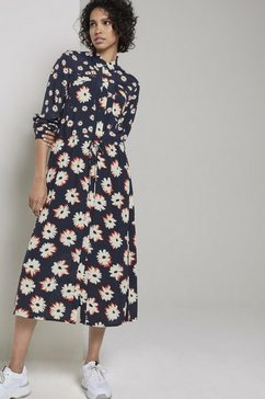 tom tailor mine to five zomerjurk jurk met bloemenprint blauw