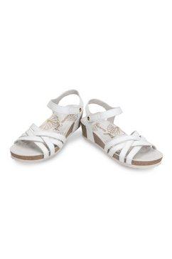 panama jack sandaaltjes met klittenbandtrensje wit