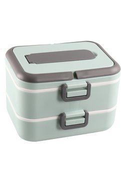 stoneline lunchbox lekvrij, voor het gescheiden bewaren van etenswaren (5-delig) groen