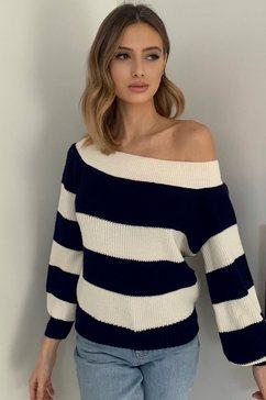 lipsy gebreide trui met strepen blauw