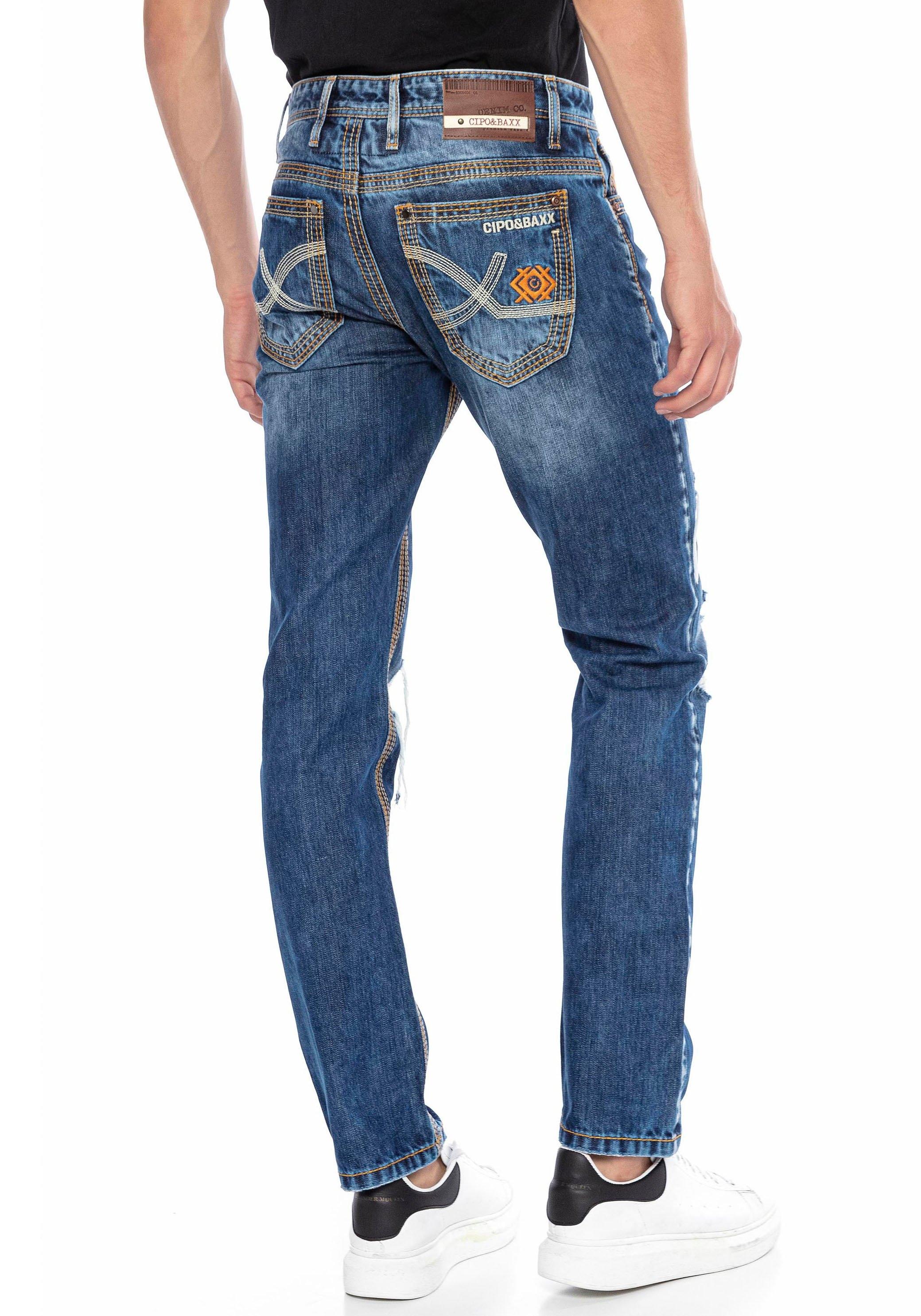 Cipo & Baxx straight jeans in een opvallend design online kopen op otto.nl