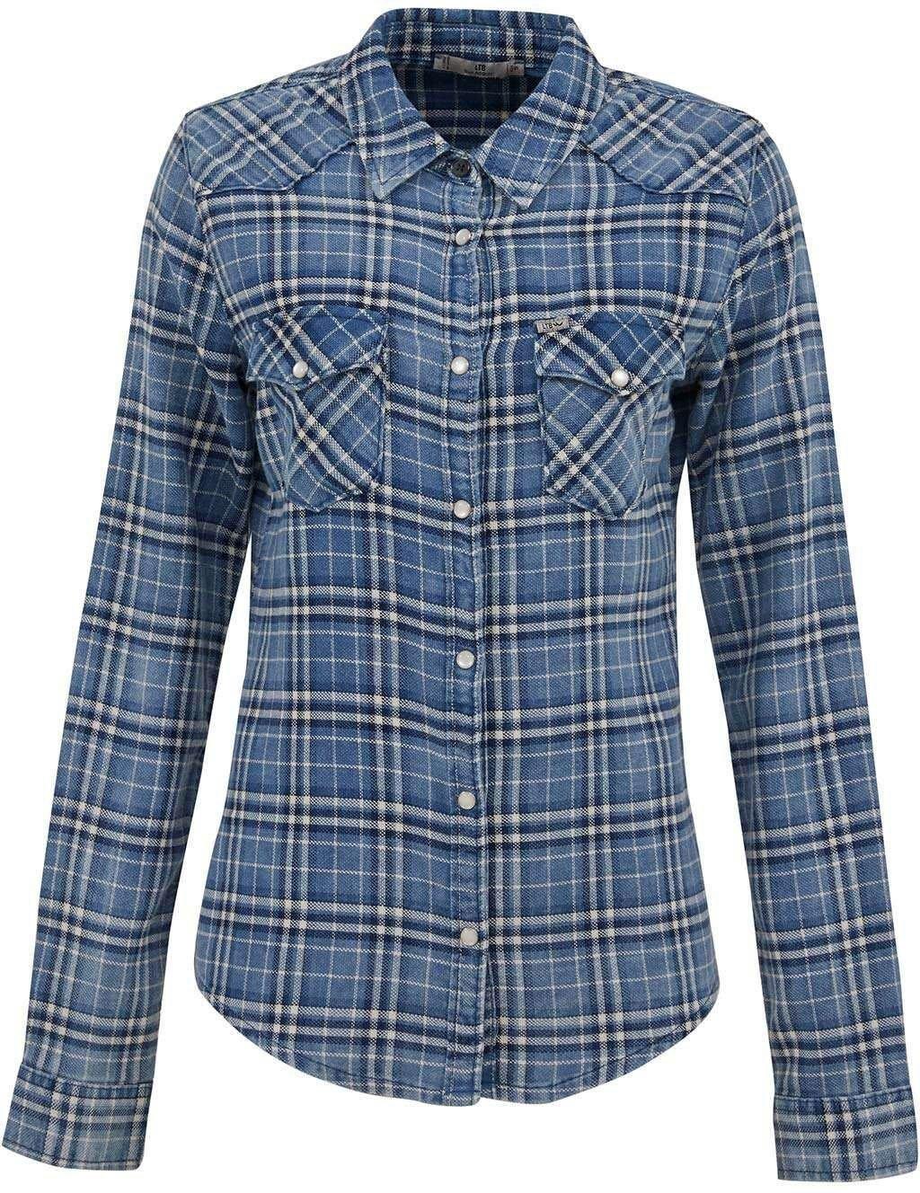 LTB blouse met lange mouwen LUCINDA met opgestikte borstzakken en met aansluitende pasvorm voordelig en veilig online kopen