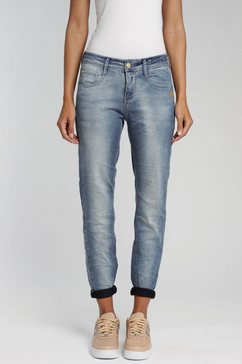 gang relax fit jeans amelie in coole used-wassing blauw