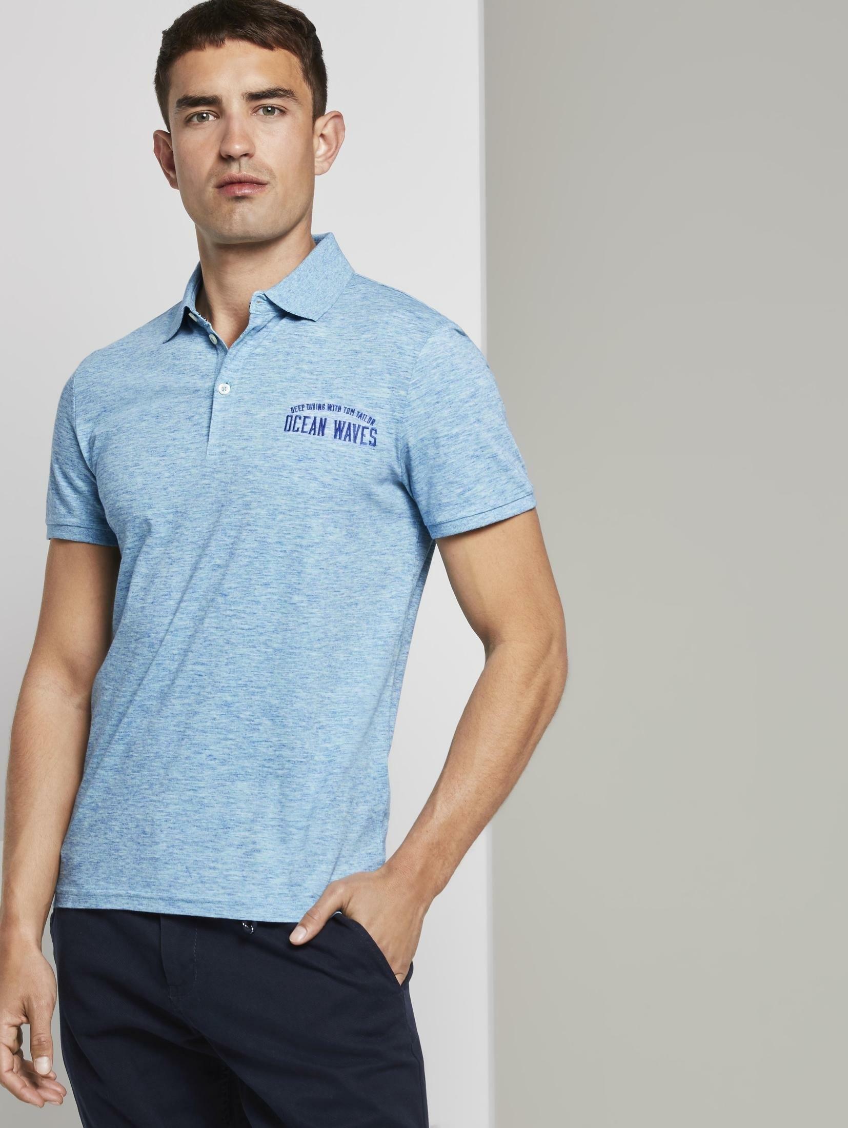 Tom Tailor poloshirt »Meliertes Poloshirt« nu online kopen bij OTTO