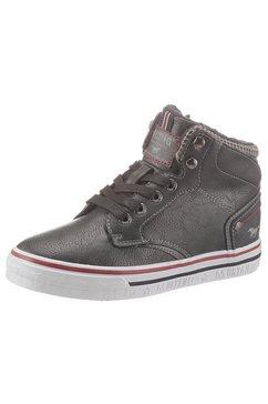 mustang shoes winterlaarzen met stijlvolle logoprint grijs