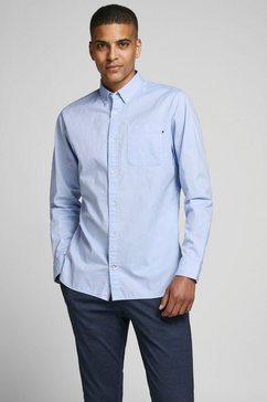 jack  jones overhemd met lange mouwen »classic soft oxford shirt« blauw