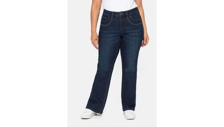 Sheego bootcut jeans met verstelbare band