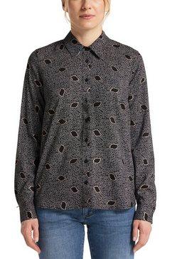 mustang blouse met lange mouwen emma foil aop zwart
