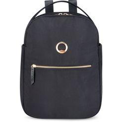 delsey laptoprugzak »securstyle, black« zwart