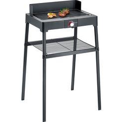 severin staande barbecue pg 8563 met grillplaat zwart