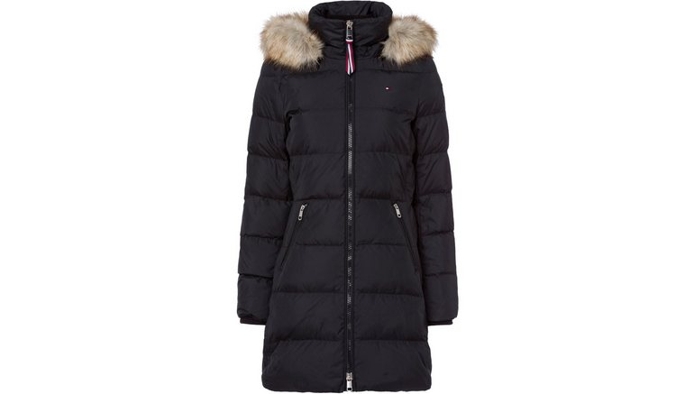 TOMMY HILFIGER donsjas »CL BAFFLE DOWN COAT WITH FUR«