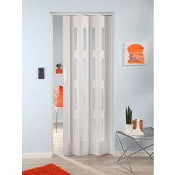 klapdeur luciana eiken wit, met 4 vensters met ribbelstructuur wit