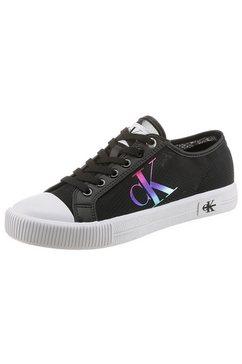 calvin klein sneakers met iets transparante schacht zwart