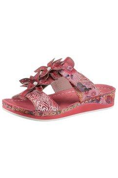 laura vita slippers brcuelo 83 met mooie bloemen gegarneerd rood
