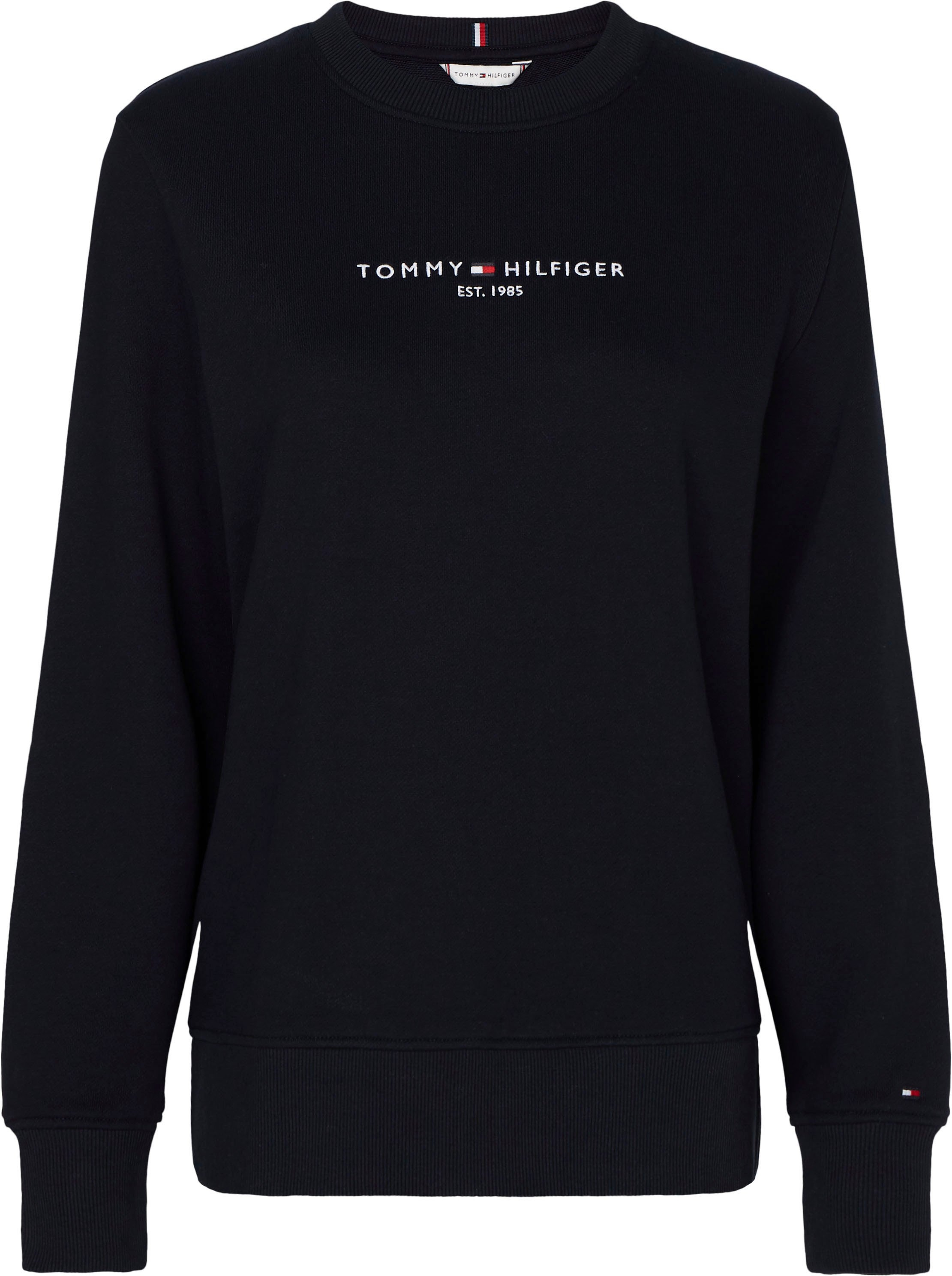 Tommy Hilfiger Sweatshirt TH ESS HILFIGER C-NK SWEATSHIRT met geborduurd lineair tommy hilfiger-logo-opschrift & flag bestellen: 30 dagen bedenktijd