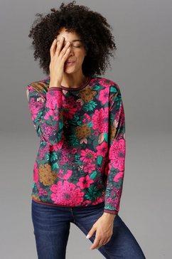 aniston casual sweatshirt met gestreepte boorden - nieuwe collectie multicolor