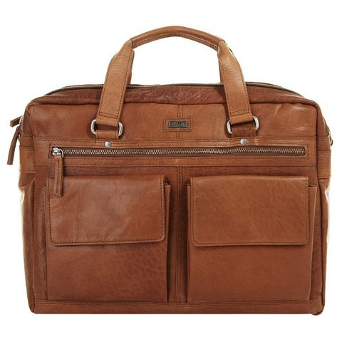 Spikes & Sparrow Bronco Heren Business Tas brandy