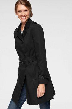 aniston casual trenchcoat met riem voor het aanpassen van de wijdte zwart