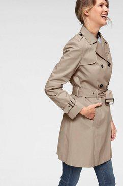 aniston casual trenchcoat met riem voor het aanpassen van de wijdte bruin