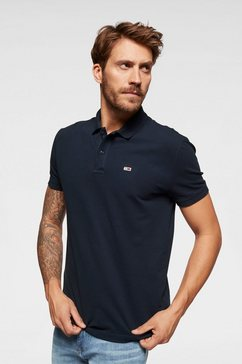 tommy jeans poloshirt »tjm tommy classics solid polo« blauw
