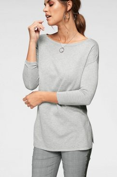 laura scott lange trui met zijsplitten grijs