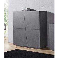 tecnos highboard »vega«, breedte 120 cm grijs
