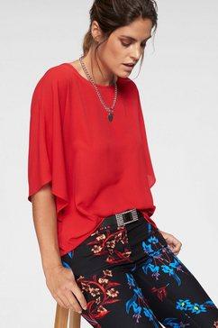 laura scott gedessineerde blouse rood