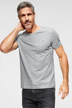 gant shirt met v-hals basic grijs