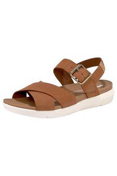 timberland sandalen »wilesport leather sandal« bruin