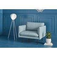 couch fauteuil »levon« in moderne look, met metalen poten blauw