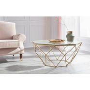 guido maria kretschmer homeliving salontafel caen van glas en metaal in geometrische vormen, breedte 95 cm goud