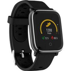 denver sw-160 smartwatch (3,3 cm - 1,3 inch) zwart
