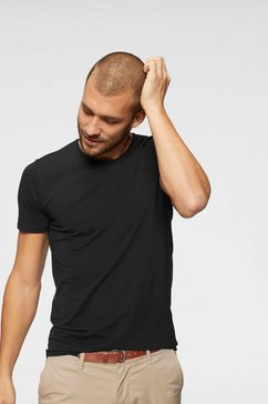 jack  jones t-shirt »slhpima ss o-neck tee« zwart