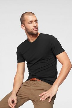 jack  jones t-shirt »slhpima ss v-neck tee« zwart