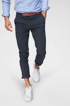 selected chino »slhslim-yard white pepper pants« (set, 2-delig, met riem) blauw