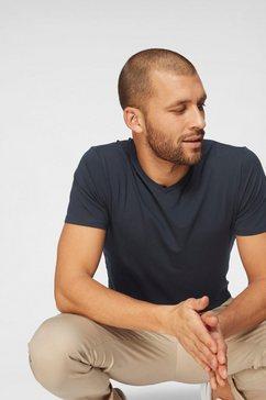 jack  jones t-shirt »slhpima ss v-neck tee« blauw