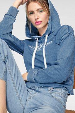 herrlicher hoodie »winona« blauw
