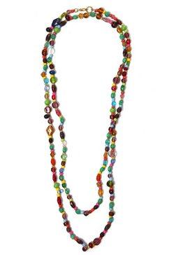 collezione alessandro lange ketting c2432-f29 met glaskralen multicolor