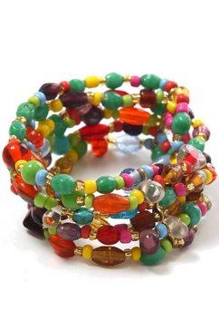 collezione alessandro armband a2431-f29 met glaskralen multicolor
