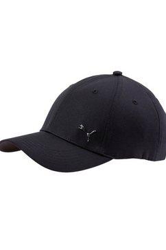 puma baseballcap puma metal cat cap zwart