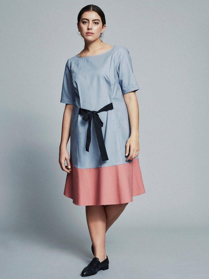 Junarose 1/2-mouw jurk blauw