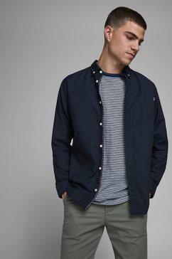 jack  jones overhemd met lange mouwen classic soft oxford shirt blauw