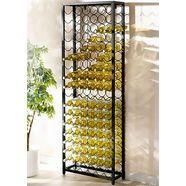 wijnrek voor 108 flessen zwart