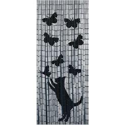 wenko bamboegordijn voor balkon of terras, »kat  vlinders« beige