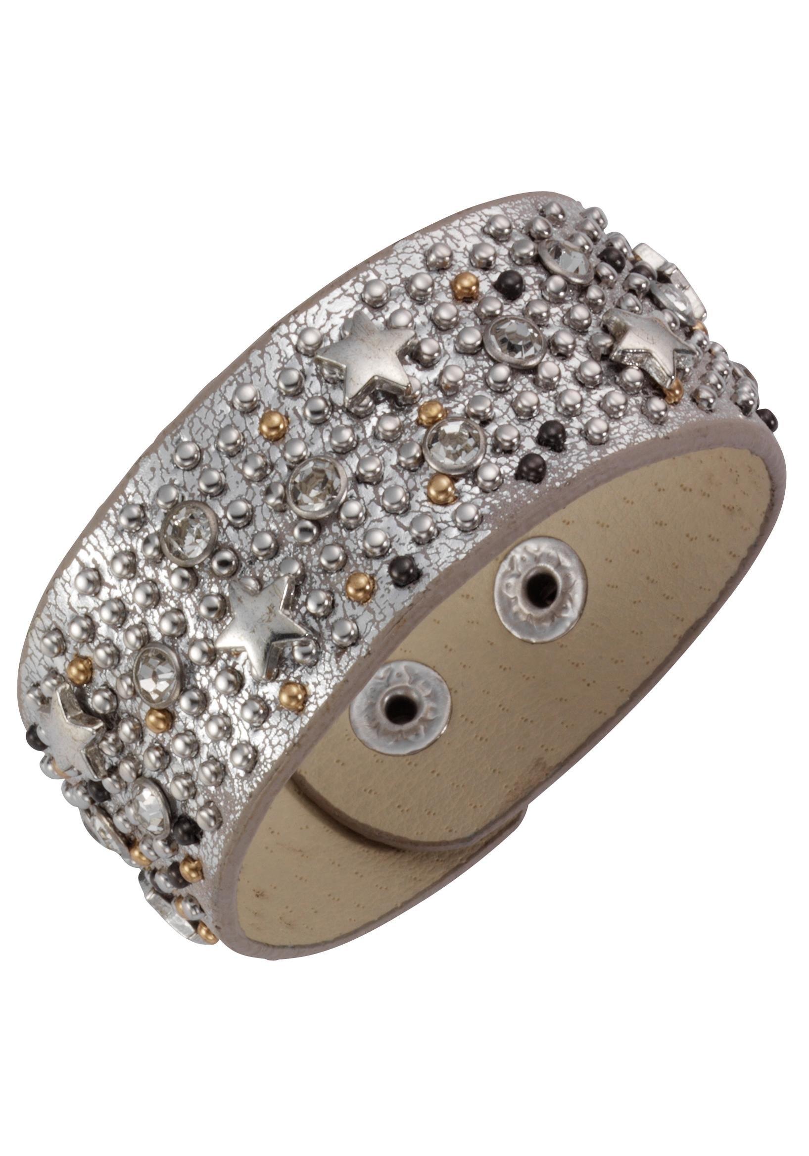 J.Jayz armband Ster, metallic-look met glassteentjes en metalen studs bestellen: 30 dagen bedenktijd
